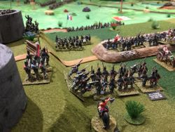 Republican Mexican army prepare to defend their position