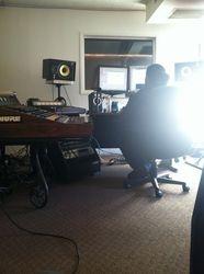 Checking drum tones.