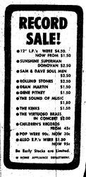 Hays Department Store Record Sale