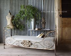 SOLD #27/179 FRENCH WROUGHT IRON DAYBED SOLD