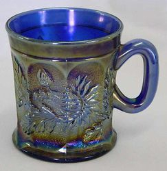 Dandelion mug, blue