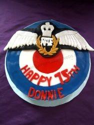 75TH Birthday Cake RAF