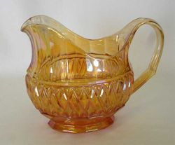 Banded Diamond and Bars oval pitcher,  by Josef Inwald
