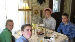 Young Gents savoring Tea