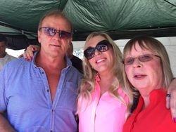 Mal Sanders, Jeanie Clarke and friend