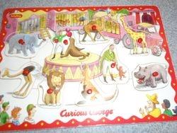 Schylling Curious George Peg Puzzle - $6