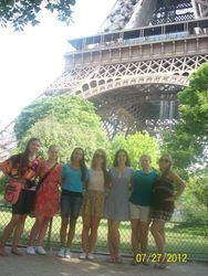 First stop, the Eiffel Tower!