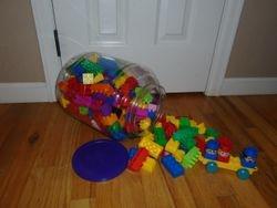 MegaBloks Duplo Blocks in a Tub- Quantity of 210 - $20