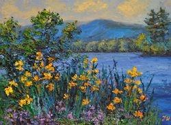 Yellow irises.