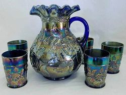 Rambler Rose water set, blue