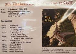 8th Thalassemia Gathering @ SGH Programme