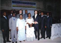 Pastor Gregg Johnson With His Team& Chief Justice  Georgina  Wood   of  Ghana
