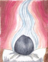 Peaceful and Expectant, Oil Pastel, 11x14, Original Sold