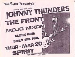 Johnny Thunders / The Front / Mojo Nixon