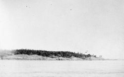 Discovery Island Light station in 1896