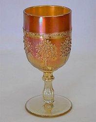 Orange Tree wine glass, marigold