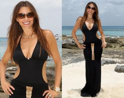 in Greek goddess style  beach dress