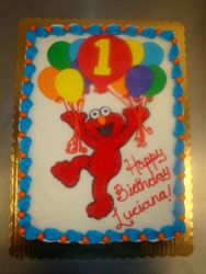 30 serving Elmo with balloons $150