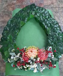 Native flowers Remeberance Wreath