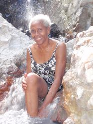 Annette at the hot springs