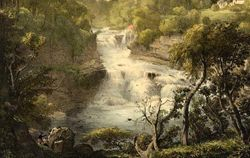 Corra Linn Mill at head of falls