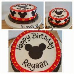 Single Tier Mickey Cake