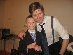 Danny Bond and a very happy birthday boy!
