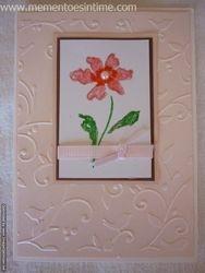 Simple Pink Flower Card