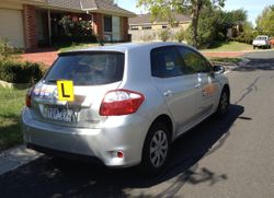 Driving School Caulfield - Toyota Corolla Hatch - Automatic Transmission