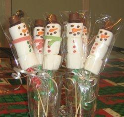 Marshmallow Snowmen Pops
