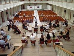 Paul rehearsing 'Norma' in Copenhagen