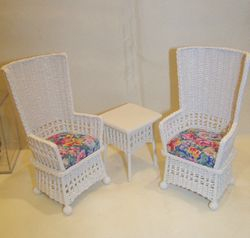 White square wing chairs