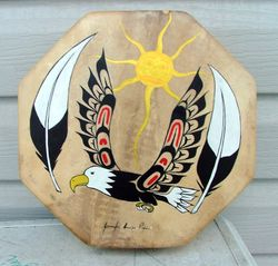 Eagle Embracing the Sun Drum
