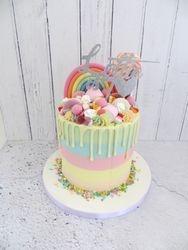 Rainbow Sweetie Drip Cake