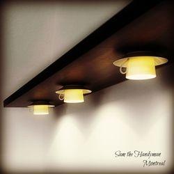 designer's lighting fixture installation