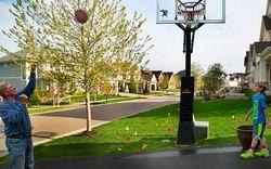 Grandpa-Grandson Basketball by Karen Davidson (AC)