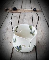 Leaf Stamped Bucket