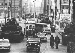 Check-Point Charlie in Berlin: