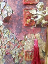 painted papers and fabrics