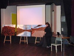 """Art exhibition - Julie Dowlings unveiling of Julie Dowlings Tryptick """"Burrup"""""""