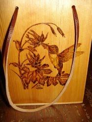 Hummingbird Wooden Box