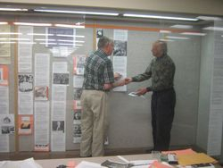 DSSA Exhibit set up at Albany Public Library