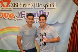 Mario Lopez and Evan Golden