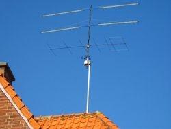 Totaal 43 dB gain op 2,5 meter