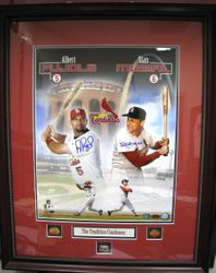 Albert Pujols/Stan Musial Autographed Framed #5/1000