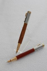 Bloodwood and Stainless (top) pen
