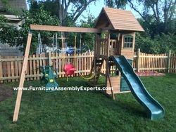 Big Backyard Windale Swing Set assembled in la plata MD