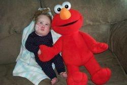 Elmo and Meg.