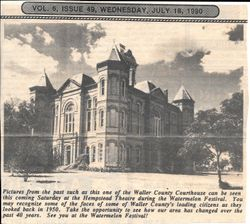 Waller County Courthouse 1950