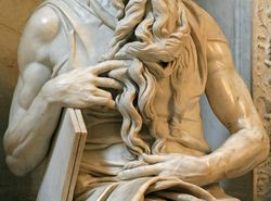 Michelangelo, Moses, detail